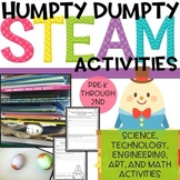 EGG-cellent Humpty Dumpty Nursery Rhyme STEM & STEAM activities