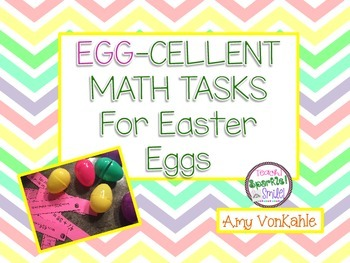 EGG-cellent Math Task Cards - to put in eggs!!!!! For primary grades!