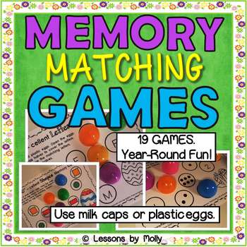 memory matching games for shapes colors letters and numerals tpt