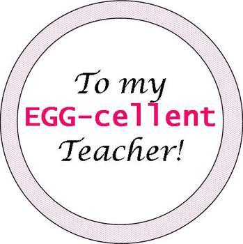 EGG-cellent Teacher Easter Tags