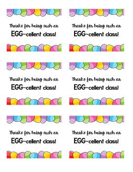 EGG-cellent Thank You - Hoppy Easter/Spring