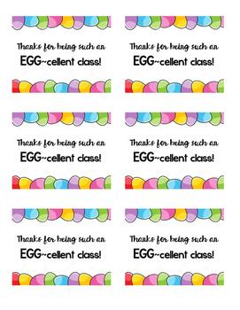 EGG-cellent Thank You - Hoppy Easter/Spring