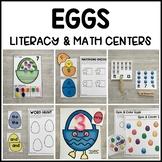 EGGS Literacy & Math Centers for Easter & Spring (Preschoo
