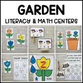 GARDEN Literacy & Math Centers for Spring (Preschool, PreK, Kindergarten)