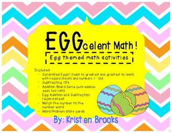 EGGcelent Math! (Spring Egg Math Activities)