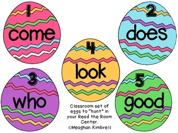 EGGciting Easter Egg Sight Word Hunt