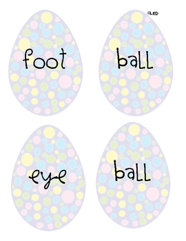 EGGstra Practice with Compound Words and ABC Order FREEBIE