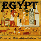 EGYPT: notes, map & activity