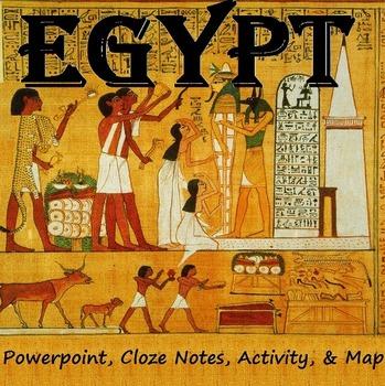 EGYPT: notes, map & activity