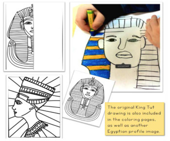 EGYPTIAN ART Lesson With Teacher Script (from Art History for Elementary Bundle)