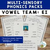 EI Vowel Digraph Multisensory Phonics Pack Orton-Gillingham Resources