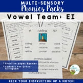 EI Vowel Digraph Multisensory Phonics Pack Orton-Gillingha