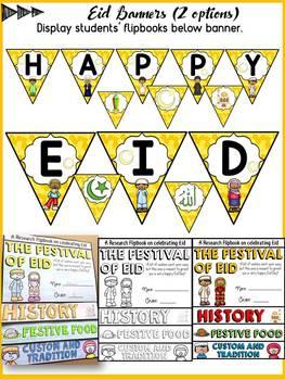 EID CELEBRATION RESEARCH FLIPBOOK: EDITABLE