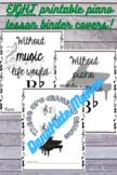 EIGHT Printable Piano Binder Covers