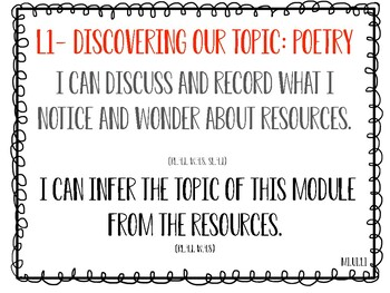 EL 4th Grade Module 1-Learning Targets and CC Standards