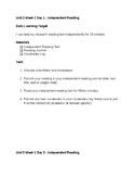 EL 5th Grade Module 1 Unit 2 Student Task Cards - ALL Block