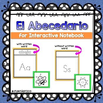 EL ABECEDARIO FOR INTERACTIVE NOTEBOOK