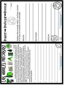 EL AIRE, EL MAR Y LA TIERRA - an 8 page Spanish, Earth Day Celebration booklet