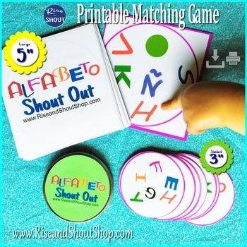 EL ALFABETO Spanish Alphabet SHOUT OUT; Spot the Match Game; 2 sizes/shapes