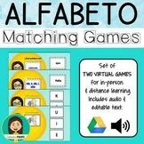 EL ALFABETO - Spanish Alphabet Matching Games for Google Drive