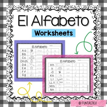 El Alfabeto Worksheets Teaching Resources | Teachers Pay Teachers