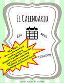 EL CALENDARIO Posters, Graphic Organizers and Vocabulary P