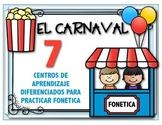 EL CARNAVAL: Centros de aprendizaje para  practicar sílabas en español