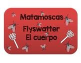 EL CUERPO HUMANO. BODY PARTS GAME. FLYSWATTER. MATAMOSCAS.
