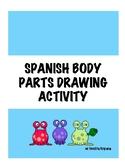 EL CUERPO SPANISH BODY PARTS DRAWING ACTIVITY