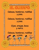 EL CUERPO-Song,flash cards,posters& worksheets about the body parts in Spanish.