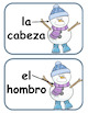 EL CUERPO- WINTER EDITION Spanish song, flash cards,poster