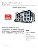 EL Civics Objective 4.4 Obtaining Housing Student Packet Int. Low