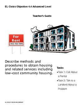 EL Civics Objective 4.4 Obtaining Housing Teacher Packet Adv.