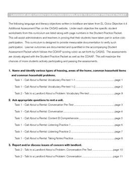 EL Civics Objective 4.4 Obtaining Housing Teacher Packet Int. Hi.