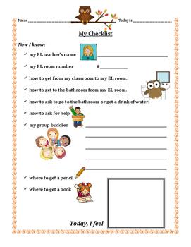 EL Classroom Checklist