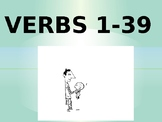 EL/ESL Level 1 VERBS 1-39 PowerPoint Activity (w/ FREE Worksheet)