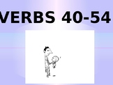 EL/ESL Level 1 VERBS 40-54 PowerPoint Activity (w/ FREE Wo