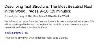 EL Education (2nd Ed) 5th Gr Module 2 Unit 1 Lesson 2 Describing Text Structure