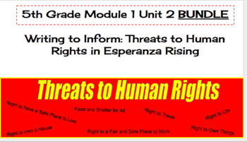 EL Education (2nd Ed) 5th Module 1 Unit 2 Lesson 01-16 BUNDLE Esperanza Rising