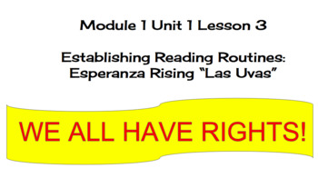 EL Education (2nd Ed) 5th Module 1 Unit 1 Lesson 03 Esperanza Rising