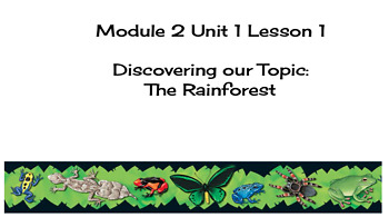 EL Education (2nd Edition) 5th Gr Module 2 Unit 1 Lesson 1 Discovering the Topic