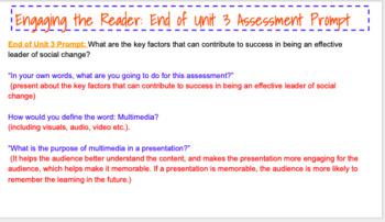 EL Education (2nd Ed) 5th Module 3 Unit 3 BUNDLE ALL LESSONS 1-13