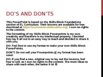 EL Education- 2nd Grade Skills Block - Module 1, Cycle 3