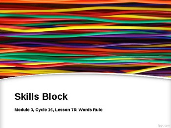 EL Education- 2nd Grade Skills Block - Module 3, Cycle 16