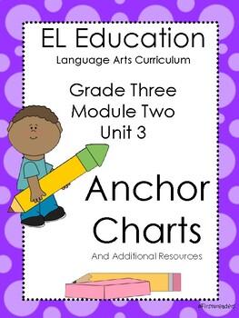 EL Education 3 Module 2 Unit 3 Anchor Charts