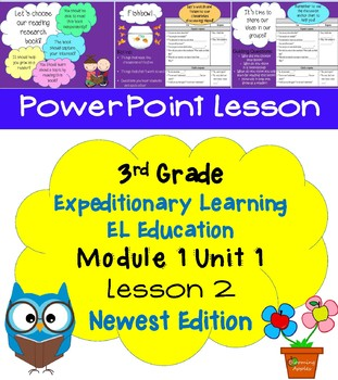 Expeditionary Learning EL Education 3rd Grade Power Point M1U1 Lesson 2