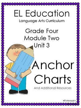 EL Education 4 Module 2 Unit 3 Anchor Charts