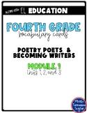 EL Education Vocabulary Cards - Grade 4 - Module 1