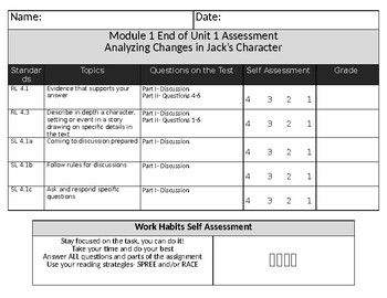 EL Education Curriculum Grade 4 Assessment Rubrics (Editable) Growing File