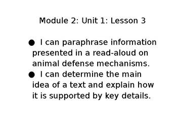 EL Education Curriculum- Module 2